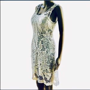 Staring at the stars cream lace dress